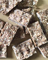 Slices of macadamia oat bars